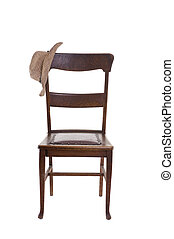 Oak Chair with hat