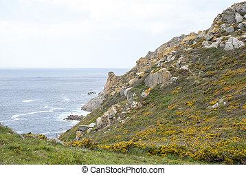 Cies islands natural park, Galicia - Landscape of Cies...