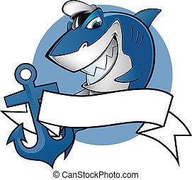 marinheiro, tubarão