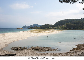 Cies islands natural park, Galicia - Smaragd water of Cies...