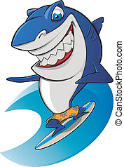 Shark surfing sympathetic