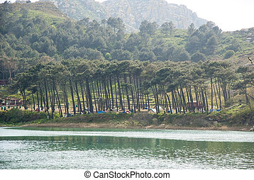 Caming at Cies island natural park, Galicia - Camping at...