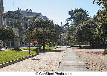 Park in Pontevedra, Galicia - City park in Pontevedra,...
