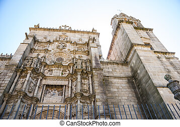 St. James Cathedral in Pontevedra, Galicia, Spain