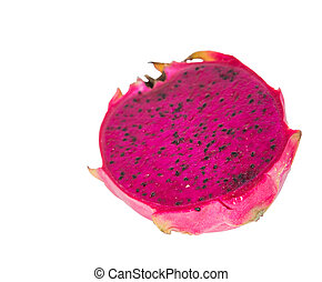 Red Dragon Fruit - Red dragon fruit over white background