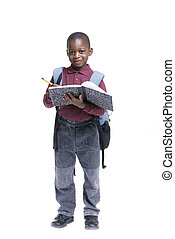 African American Student - An african american student ready...