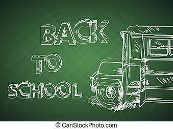 Education back to school bus.