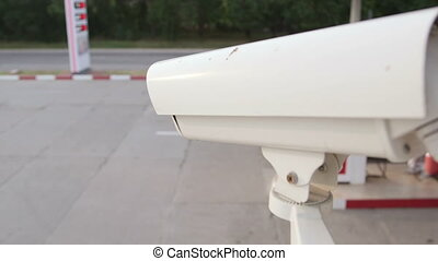 Surveillance camera on corner - Surveillance video camera on...