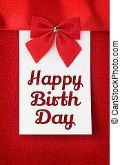 Feliz, aniversário, Saudação,...