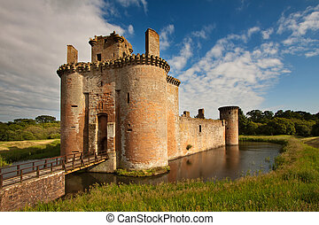Caerlaverock Castle, Dumfries and Galloway, Scotland is a...