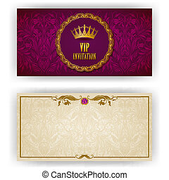 Elegant template for vip luxury invitation - Elegant...