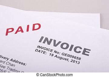 pagado, factura