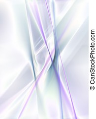 Flowing Fibers Abstract - Flowing strands of bright fibers -...