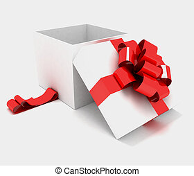 Open gift box  - Open gift box. 3d illustration on a white.