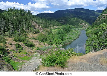 Rogue river view - view of rogue river from afar