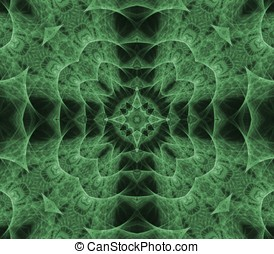 Woven Cross Abstract - Woven, green cross effect - fractal...
