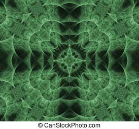 Woven Cross Abstract - Woven, green cross effect - fractal...