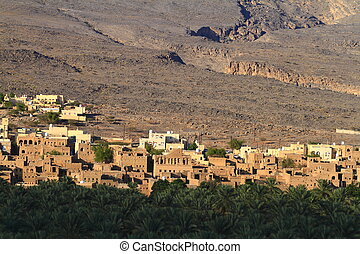 abandoned village of Al Hamra, Oman