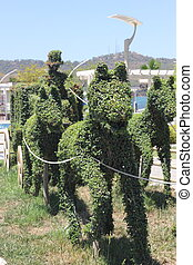 The art of topiary, horse and carriage
