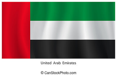 United Arab Emirates flag with title