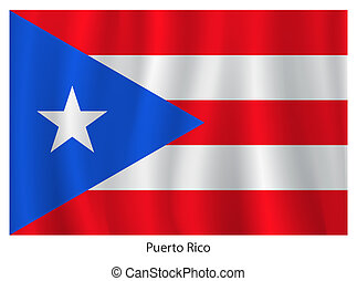Puerto Rico flag with title on the white background