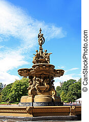 Ross fountain in Princess Street Gardens in Edinburgh,...