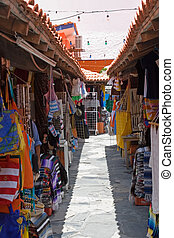 Mexican Bazaar - Outdoor mexican marketplace or mercado in...