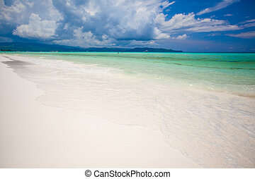 Perfect tropical beach with turquoise water and white sand...