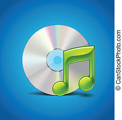Music Icon With CD