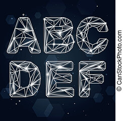 Vector Constellation Font A-F - Vector Constellation...
