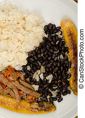 Venezuelan pabellon criollo - Full frame take of Venezuelan...
