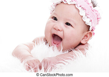 Asian Laughing baby