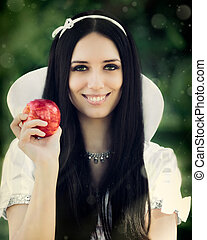 Snow White - Snow-White princess with the famous red apple....