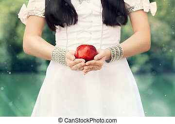 Snow White - Snow-White princess with the famous red apple...
