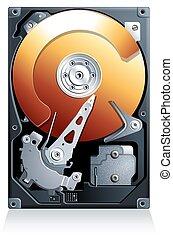 Hard disk drive HDD realistic vector - Hard disk drive HDD...