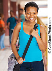 female african american high school student - gorgeous...