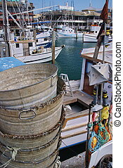 Fishermans Wharf - These fishing barrels setting on the dock...