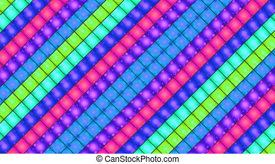 breaking square light box - Disco effect square background