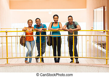 african college students - portrait of african college...