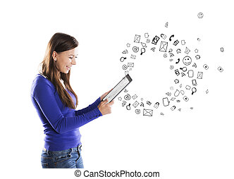 Girl with tablet