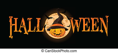 Halloween Pumpkin banner - Halloween banner with Pumpkin...