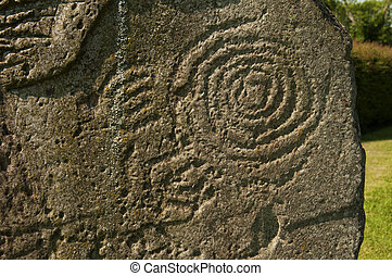Symbol at Newgrange, Ireland - It is a Celtic and pre-Celtic...