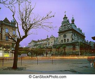 The old monastery in Lviv Bernardino based in the 15-16...