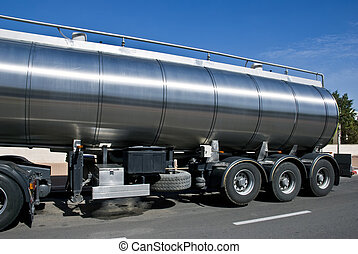 Cistern - A trailer with a big tank for delivering liquid...