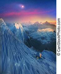 crystal horizons - Infinite space alpine peaks fascinates...