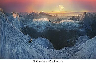 crystal horizons - Infinite space alpine peaks fascinates...