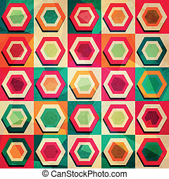 colored rhombus seamless pattern with grunge effect