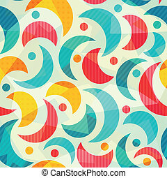 colored semicircle seamless pattern with glass effect