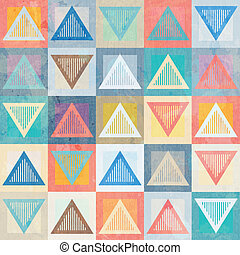 colored triangle seamless pattern with grunge effect
