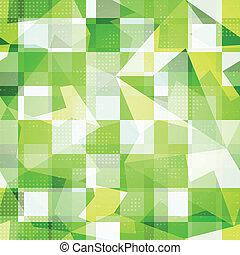 green squares seamless pattern
